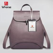 [Whorse] бренд рюкзак Для женщин Пояса из натуральной кожи сумка Для женщин Back Pack из коровьей кожи Для женщин рюкзак Школьные сумки для подростков W0774