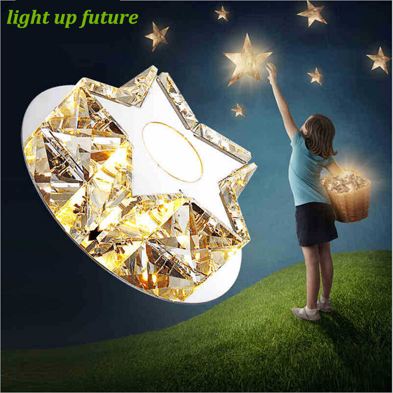 ФОТО Modern Luxurious Star Crystal Ceiling Light Embeded 3W Ceiling Light for Entrance Living Room Bedroom 2071