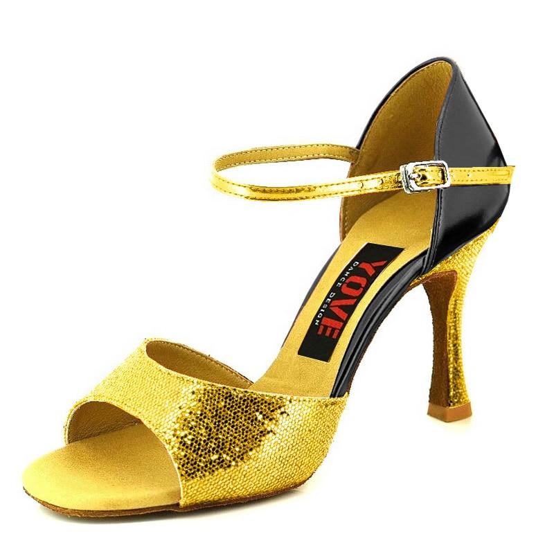 YOVE Style w133-13 Këpucë vallëzimi Bachata / Salsa Këpucë - Atlete - Foto 3