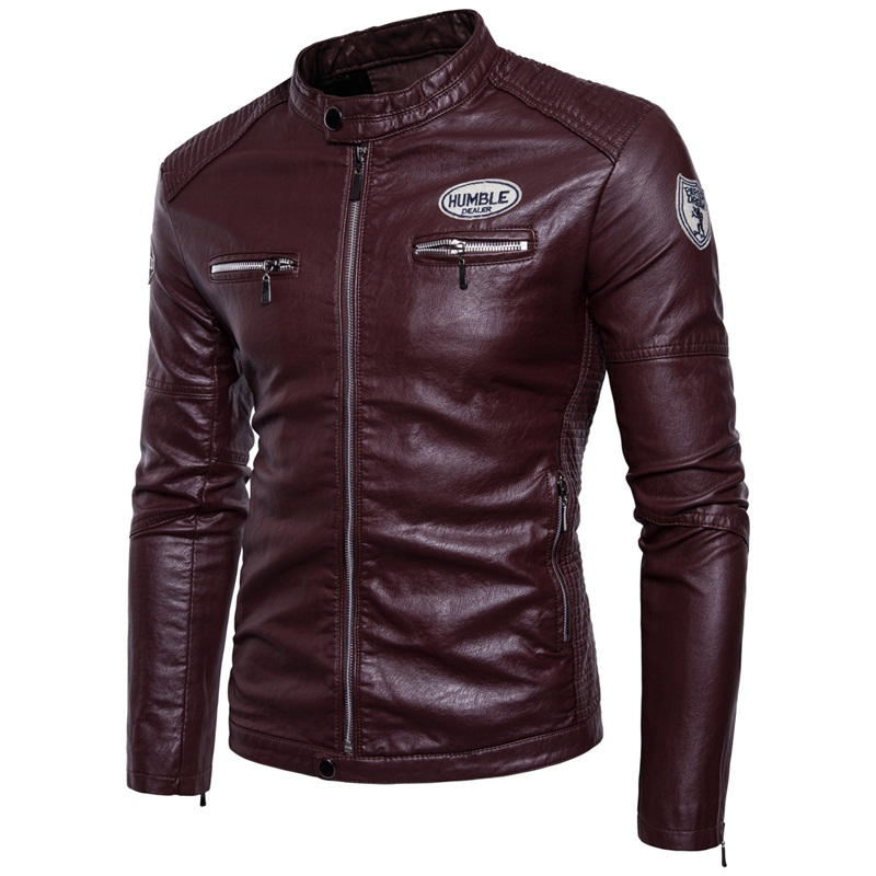 MYAZHOU Autumn Men's Leisure Long-sleeved Leather Jackets Men , Winter Windproof Leather Moto Biker Style Thick Warm Jacket Men dhl free shipping top brand warm a1 clothing man 100% vintage italy leather jackets thick men s genuine leather biker jacket
