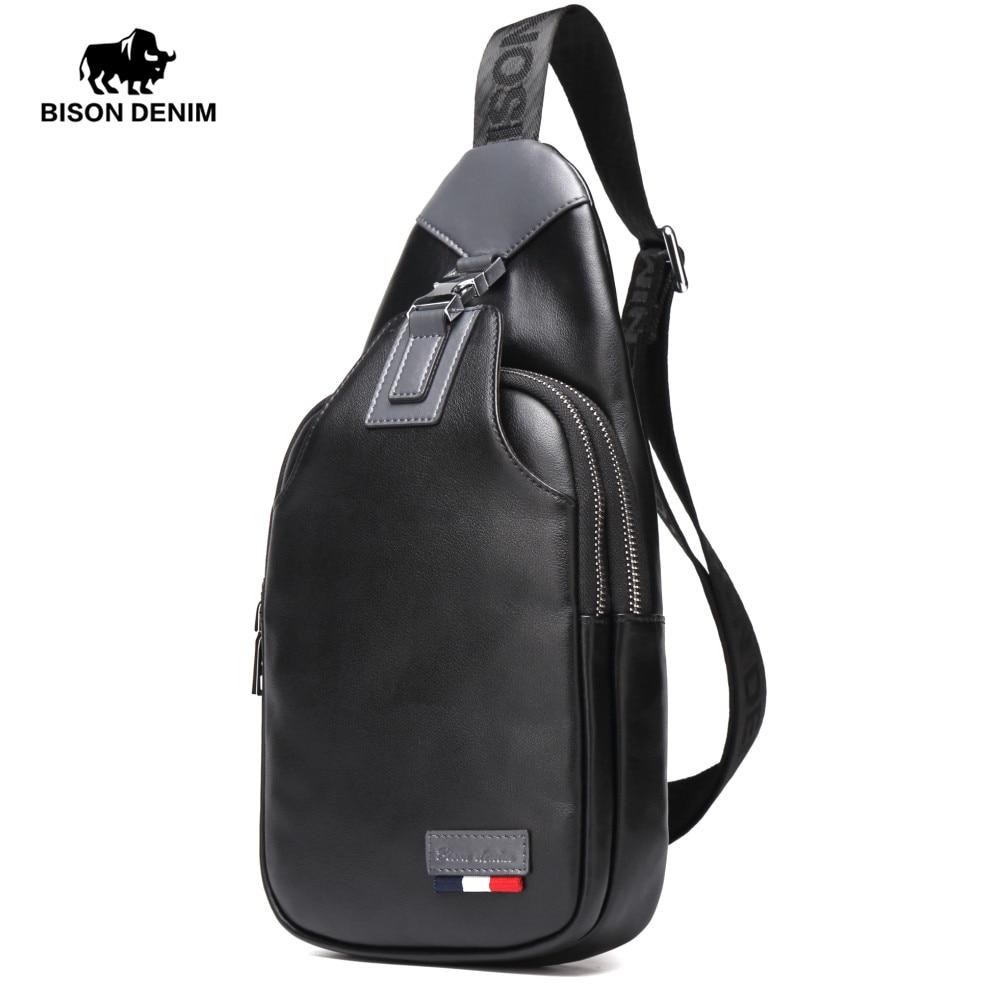 BISON DENIM Genuine Leather Crossbody Bagss