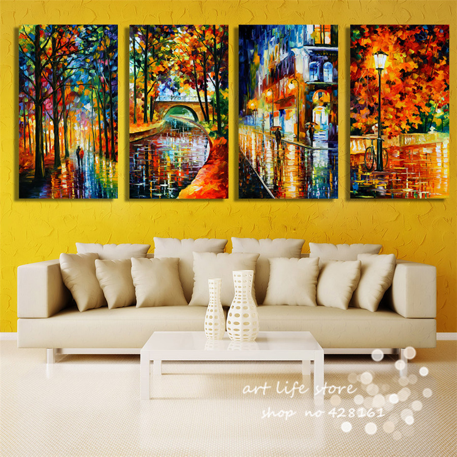 4PCS/SET Total Panels Ancient Beauty Scenery Classical Love Painting ...
