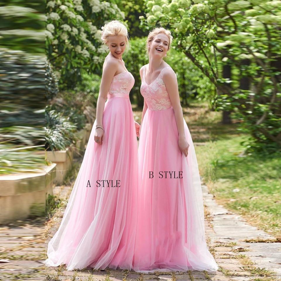 Lujo Damas De Honor Vestidos De Plata Ornamento - Colección de ...