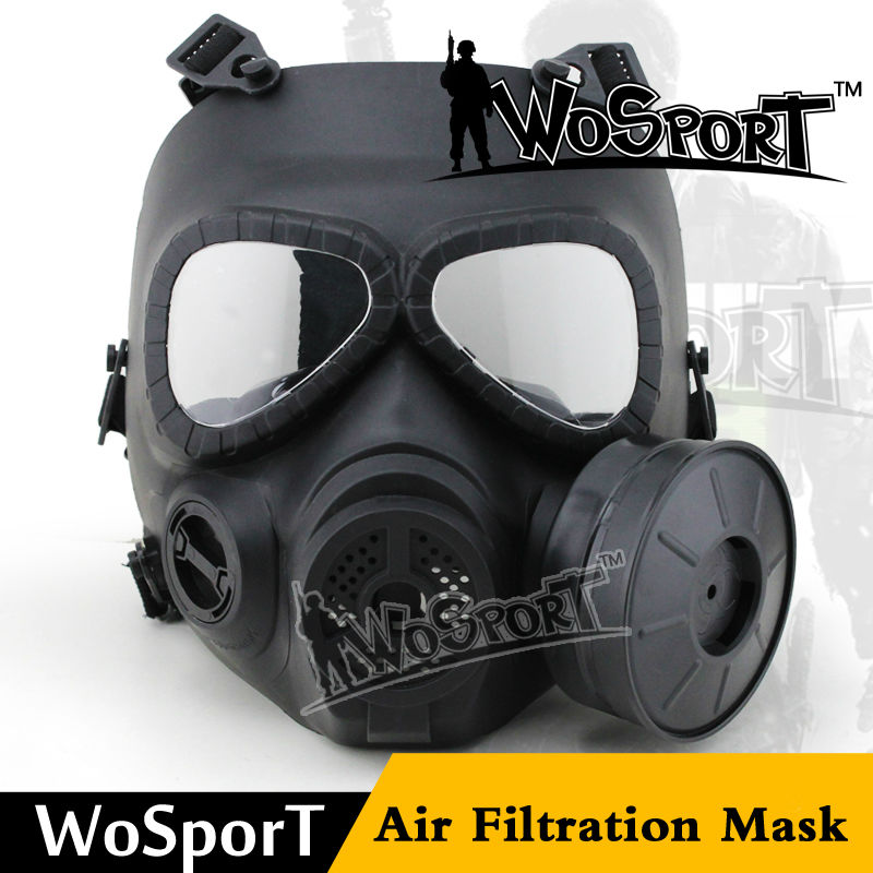 WoSporT Airsoft Tactical V4 Avengers Cosplay Toxic Skull Full Face M04 Military Gas Mask Builtin Fan CS Wargame Protective Mask