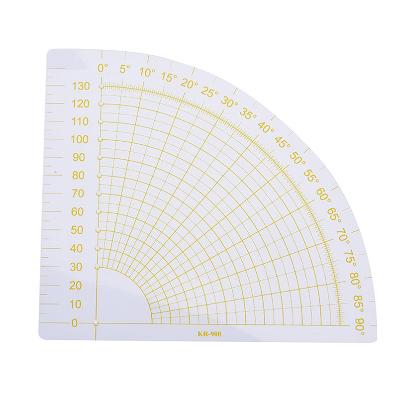 Quilting  Tailor Circle Cutter Tool DIY Transparent+Yellow Plastic Patchwork Fan Ruler