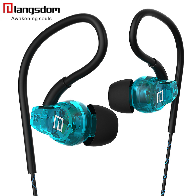 Langsdom SP80A Sport Earphones for Phone Super Bass Headsets Hifi Running Earphone 3.5mm In-ear Stereo Earbuds with Microphone