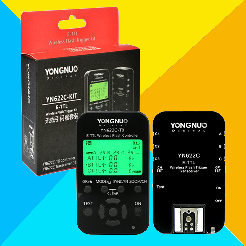 YONGNUO YN622C-KIT Wireless E-TTL HSS Flash Trigger Kit YN622C 622C Transceiver & YN622C-TX LCD Transmitter Controller For Canon yongnuo yn 622c yn 622c tx kit wireless ttl hss flash trigger for canon 1200d 1100d 1000d 800d 750d 650d 600d 550d 500d 5d ii