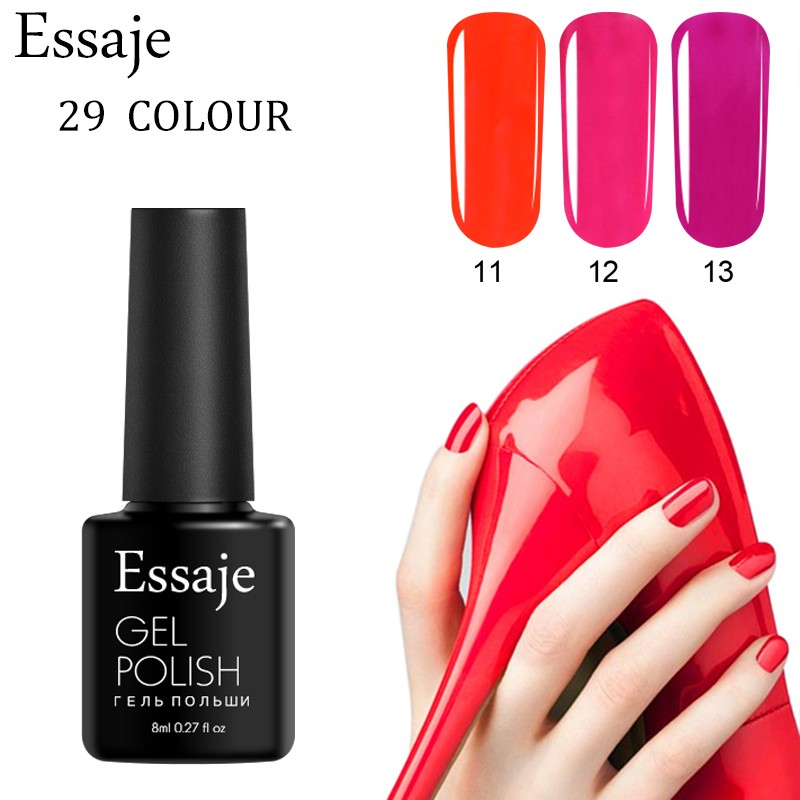 How Long Does Nail Polish Remover Last: Essaje 8ml UV Nail Gel Polish Quick Dry Gel Nail Polish