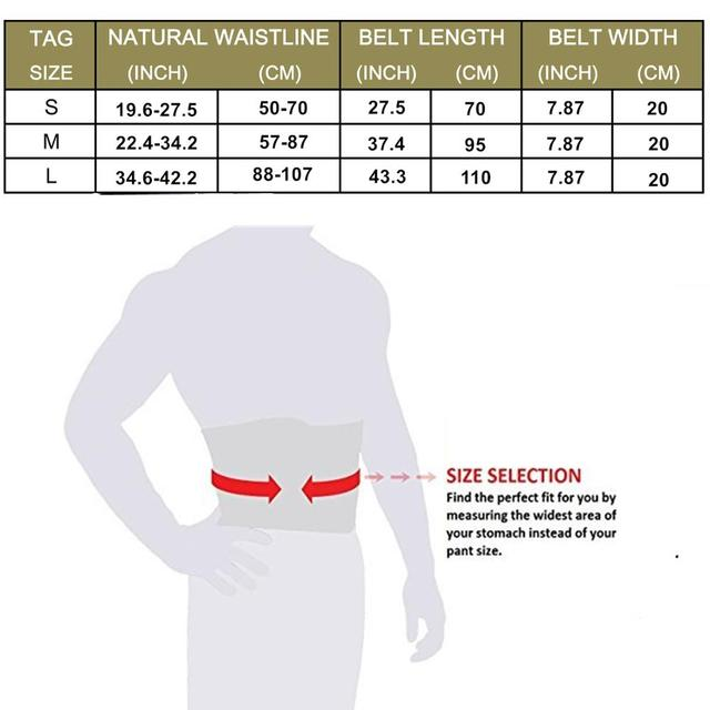 Gym Belt Waist Trainer Weight Loss Shapewear Sweat Trimmer Belt Fitness Sports Waist Support Wrap Sauna Back Belt for Women Men 5