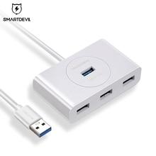 цена на SmartDevil Multi USB 3.0 Type C HUB to USB 3.0 + 4 USB for Macbook Pro HUB Adapter for Huawei P20 Computer Hard Drive Accessory
