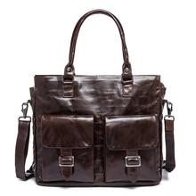 Винтаж Для мужчин Сумки Пояса из натуральной кожи сумка Бизнес сумка Портфели портфель из натуральной кожи Для мужчин Курьерские сумки