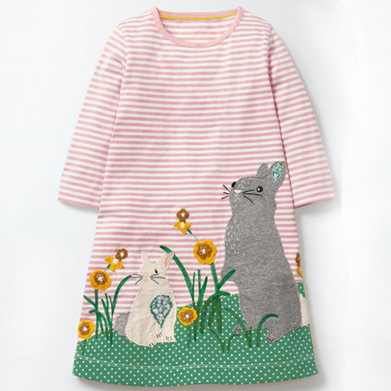 VIDMID baby Girl Dresses Striped long sleeve Princess Dresses girls Cartoon deer clothes Children for Kids Dresses for girls