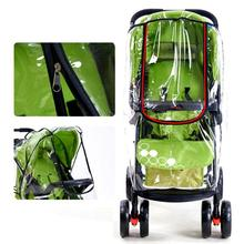 2017 New High Landscape Baby Carriage Zipper Rain Cover Baby Trolley Can Be Lying Rain Covers Baby Pram Umbrella Rain Case XV2