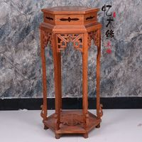 A few classical mahogany furniture wood antique rosewood indoor flower pot holder Chinese multilayer package mail