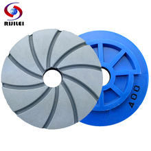 цена на RIJILEI 4''5''6'' inch Snail Lock Diamond Marble polishing pads Concrete floor polishing pad edge grinding wheel WFD22