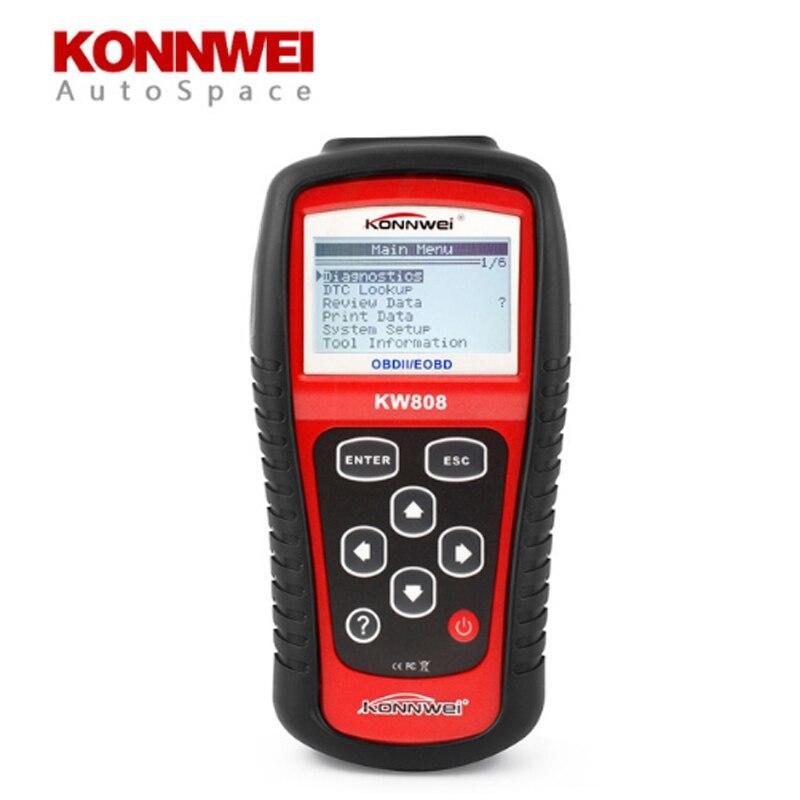 KONNWEI KW808 Scanner Auto OBDII EOBD | Outil de Diagnostic, erreur lecteur de Code, OBD2 MS 509 OBD 2 II Scan PK MS509, nouveau