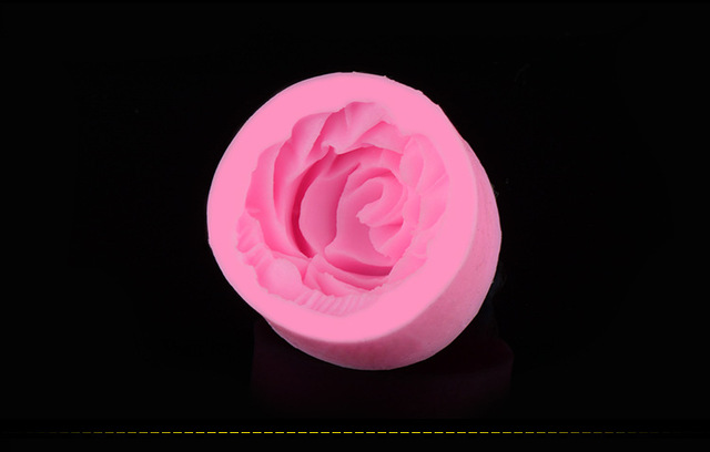 Grande Rose fleur en forme de Silicone presse moule gâteau décoration Fondant gâteau 3D qualité alimentaire Silicone moule D002