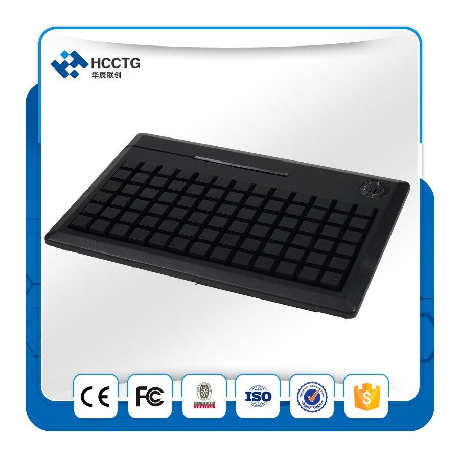 SDK gratuit 78 touches membrane POS Programmable clavier USB sans fil MSR