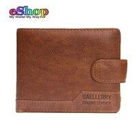 Baellerry Brand New Men Wallets Vintage Short Genuine Leather Men Wallet Small Purse Leather Wallet Men