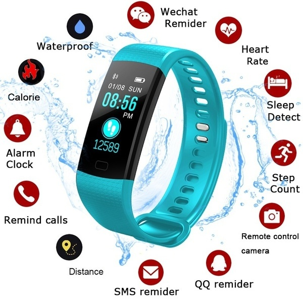 Bracelet Wristband Smartphone Pulse-Blood-Pressure Activity-Tracker for Intelligent-Heart-Rate