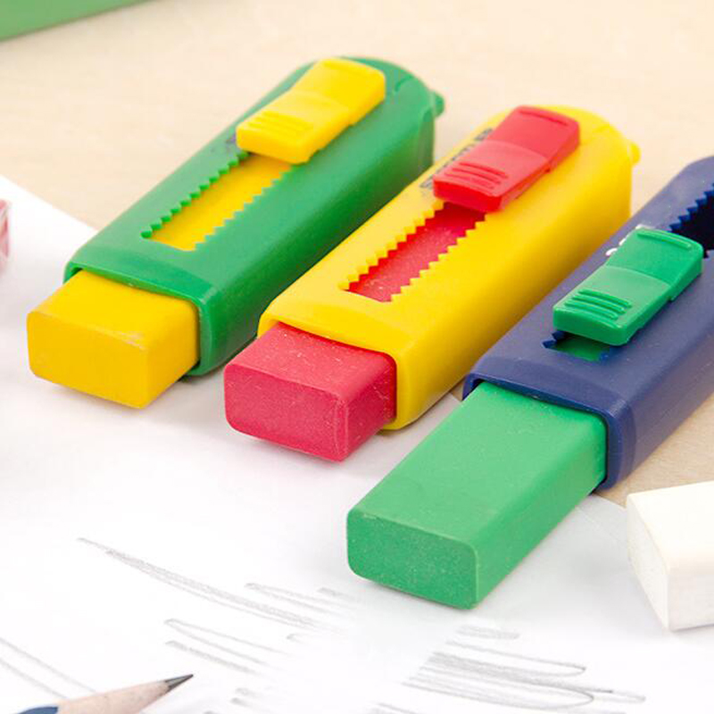 Large Eraser Cleaned Without Leaving Traces Children's Art Retractable Rubber Student Office Supplies
