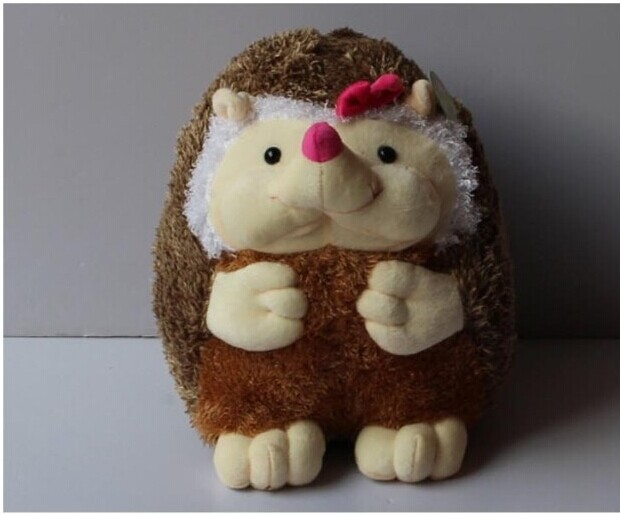 lovely font b plush b font hedgehog toy cartoon bow girl hedgehog doll gift about 40cm