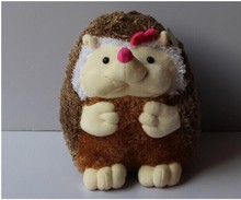 lovely plush hedgehog toy cartoon bow girl hedgehog doll gift about 40cm