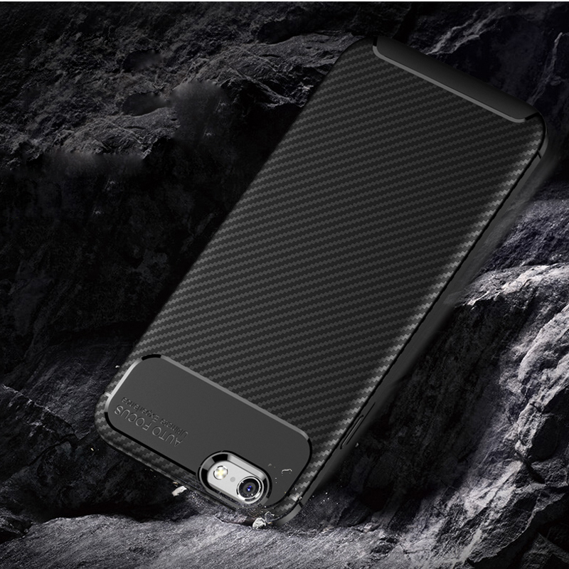 For iphone 6 6S 7 8 X XR XS MAX Case Carbon fiber TPU mobile phone back Cover For iphone 6 6S 7 8 Plus Shell Coque in Half wrapped Cases from Cellphones Telecommunications