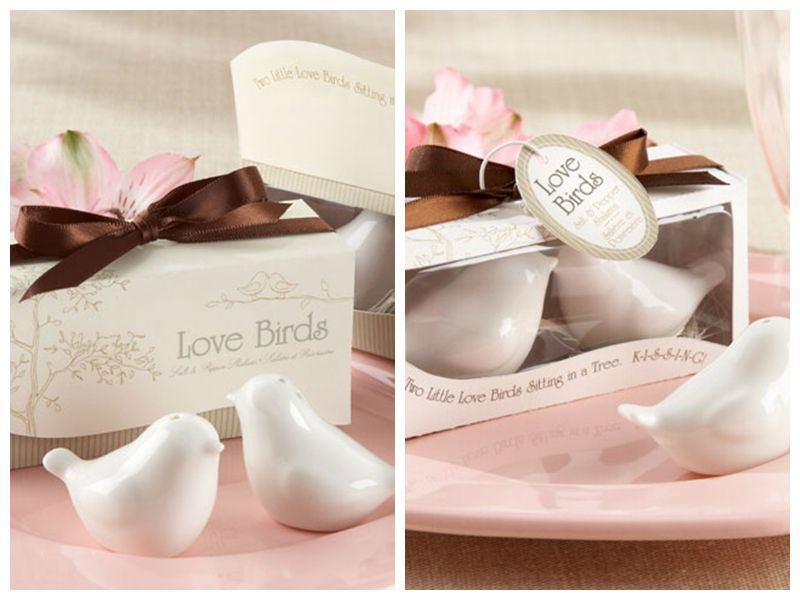40Pcs lot 20boxes Cheapest and Popular Wedding and Party Favors of Love birds salt and pepper