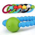 100% Food Grade Silicone Bracelet Teether Clip toys baby Rattle teether appease Toys for Chew Baby Nursing BPA Free