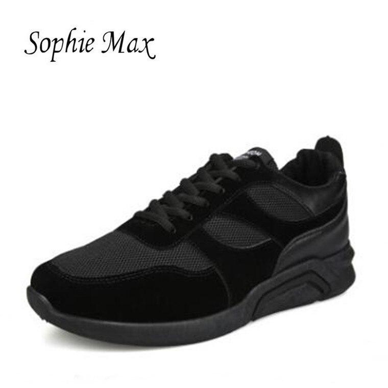 2028ad1f3351 Kedatangan Pria Sepatu Lari Pria Outdoor Breathable Anti-Slip Trekking  Berburu Pariwisata Gunung Sneakers Hitam
