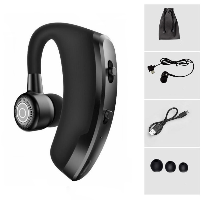 V9 V8 Wireless Bluetooth Earphone Noise Reduction Voice Control Handsfree Business Headset With Mic For Driver Sport Headphones
