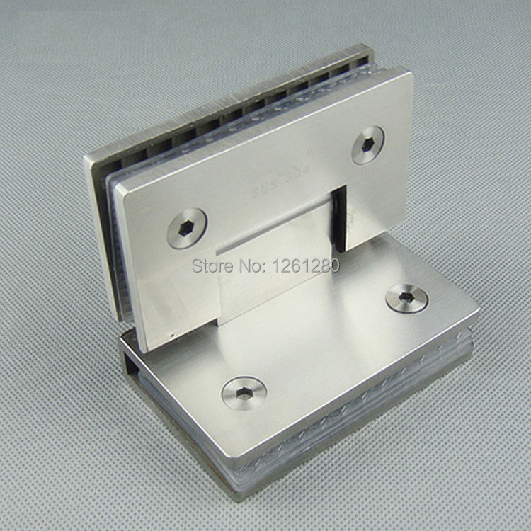 free shipping Stainless steel glass door hinge bathroom clip shower room hinge glass clamp household hardware 90-degree hinge black titanium 180 degree hinge open 304 stainless steel glass shower door hinges for home bathroom furniture hardware hm156