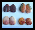 4 Pairs Multi-Color Picasso Jasper Cabochon Pairs,29x20x4/20x19x5mm,24.82g