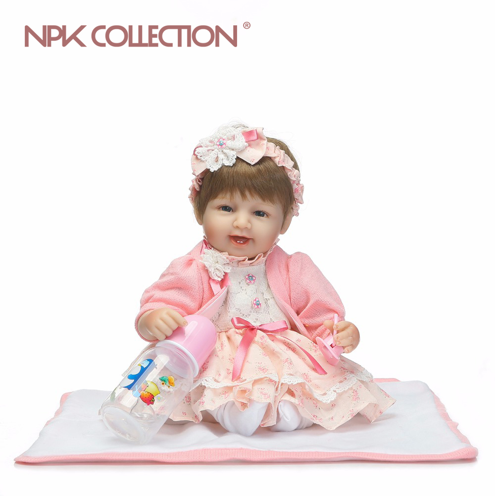 NPKCOLLECTION 40CM Handmade Lifelike Reborn Dolls Silicone Vinyl Baby Boy Doll Reborn Boneca Realista Bebe Princess Children ToyNPKCOLLECTION 40CM Handmade Lifelike Reborn Dolls Silicone Vinyl Baby Boy Doll Reborn Boneca Realista Bebe Princess Children Toy