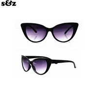 Fashion Retro Women Cat Eye Sunglasses Famous Lady Brand Designer Sun Glasses Coating Mirror Cateyes oculos feminino de sol