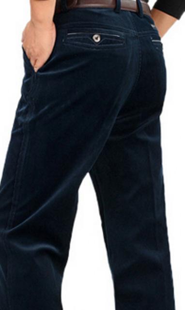 Spirng macho plus size Alta Botão Zipper Fly Flanela Casuais Comprimento Total Reta calças homem inverno Zipper calças soltas