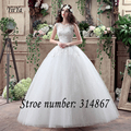 Free shipping YiiYa 2016 new cheap white wedding gowns frocks sex wedding dress princess wedding Ball Vestidos De Novia XXN123