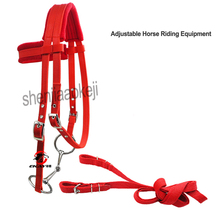 Horse Riding reins Adjustable Riding Equipment Halter Horse Bridle For Rein Horse Equestrian device Soft Thicken 1PC