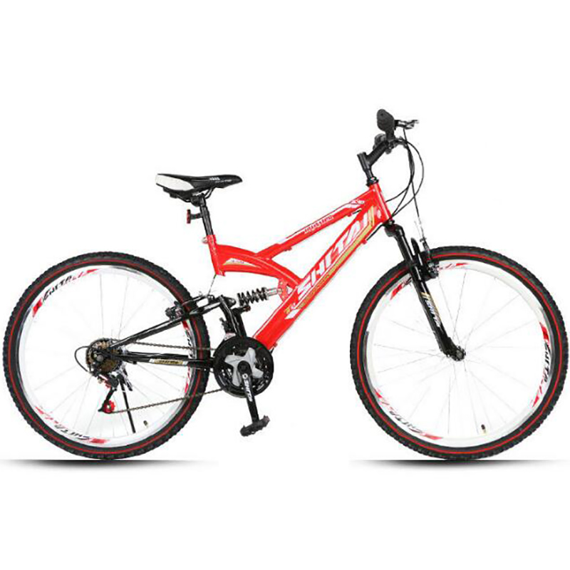 Good Quality Of 26 Inch Double Damping Suspension 21 Speed Oil And Gas Fork Cycling Factory Mountain Bike