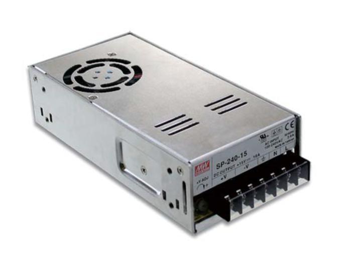 Alimentation à découpage à sortie unique MeanWell 240 W 10A 24 V SP-240-24 CE UL TUV CB fonction de PFC active intégrée en gros