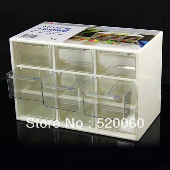 1 Empty Desktop Drawer 9 Cell Transparent Mini Tray Craft