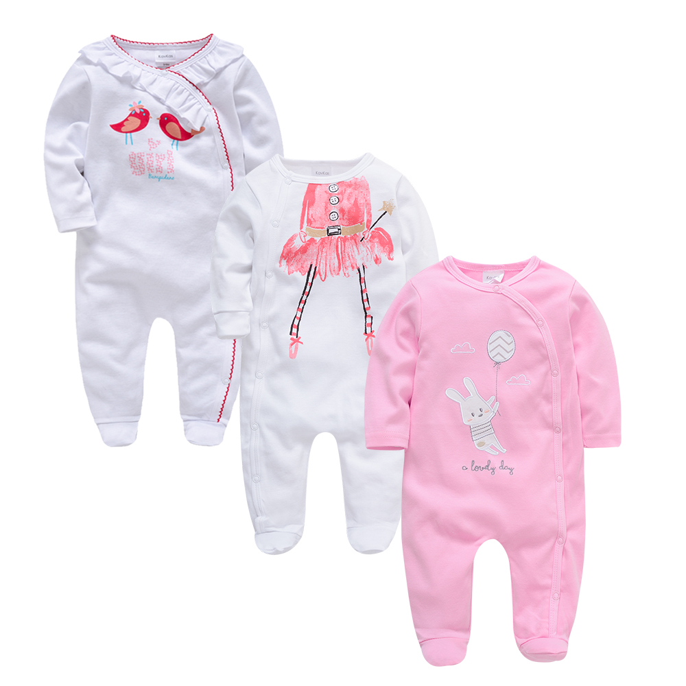 Kavkas Newborn bebes Pajamas 3 pcs/lot Baby Romper Baby Clothes Long Sleeve Cotton Costume Boys Girls Jumpsuit roupa de bebesKavkas Newborn bebes Pajamas 3 pcs/lot Baby Romper Baby Clothes Long Sleeve Cotton Costume Boys Girls Jumpsuit roupa de bebes