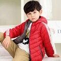 2017 Primavera Novas Crianças de Tecido de Fibra Respirável Gola Com Capuz Para Baixo Algodão Grosso Quente Ao Ar Livre Esportes Menino de Algodão-Acolchoado Jacket