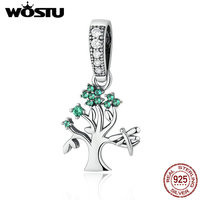 High Quality 925 Sterling Silver Tree Of Dream Charm Dangle Fit Original Pandora Bracelet Necklace Authentic