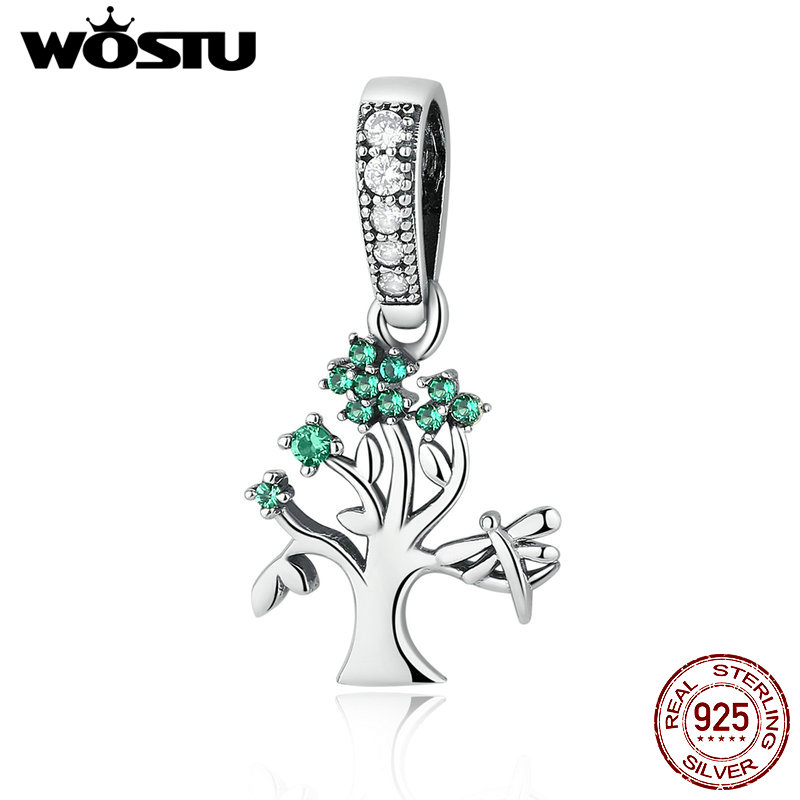 High Quality 925 Sterling Silver Tree of Dream Charm Dangle Fit Original WST Bracelet Necklace Authentic DIY Jewelry цена 2017