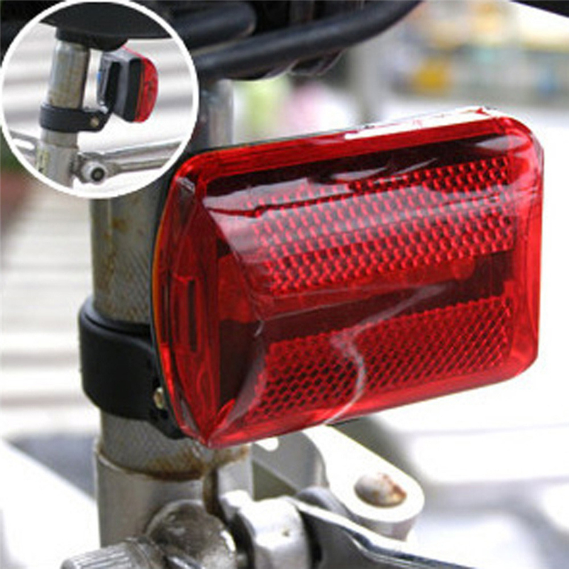 Bicycle LED Tail Light Safety Warning Light 5LED Night Mountain Bike Rear Light Lamp Bicycle Light Freeshipping #FS#4MY23