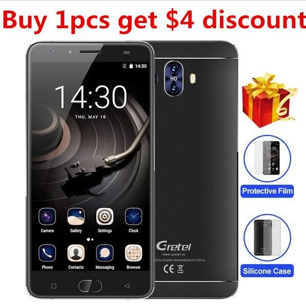 Gretel MTK6737 GT6000 6000 mAh 4G Smartphone Quad Core Android 7.0 teléfono móvi