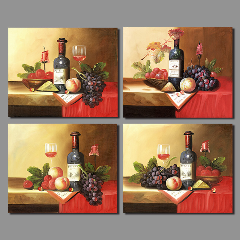2017 Wall Art Fruit Grape Red Wine Glass Picture Art For