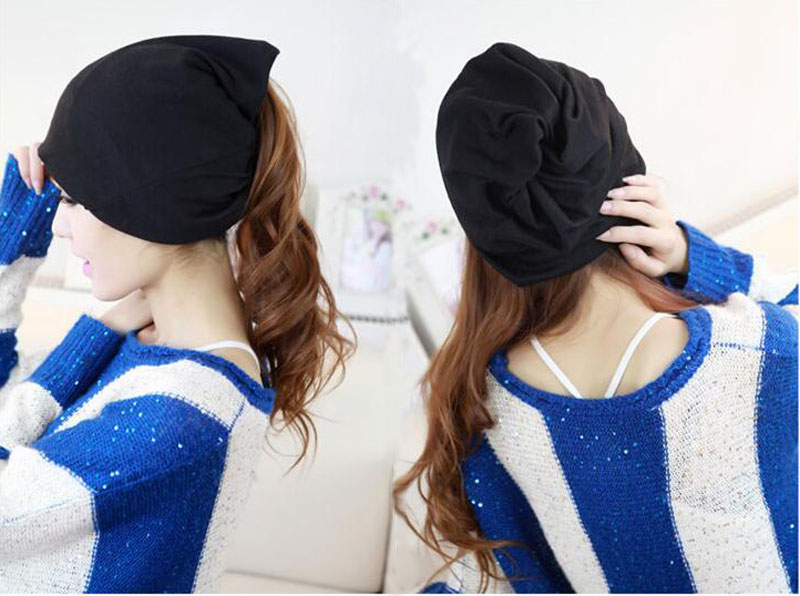 Hot The New Ultra-thin Men and Women Hip Hop Cap Piles of Baotou Hat Scarf Hat Cap Sleeve Head skullies hot sale candy colored knit cap sleeve head cap hip hop tide baotou cap 1866717